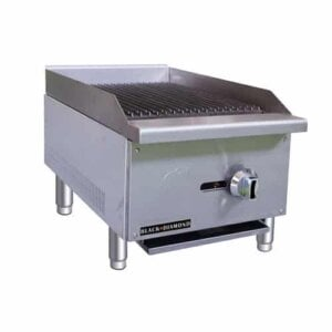 "Admiral Craft Black Diamond BDECTC-16/NG 16"" Gas Countertop Radiant Charbroiler - 30,000 BTU"