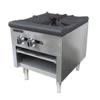 Black Diamond Single Burner Stock Pot Range NG 80K BTU
