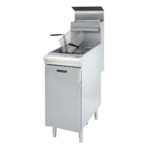 Admiral Craft Black Diamond BDGF-90/NG Natural Gas 40 lb. Stainless Steel Floor Fryer - 90,000 BTU