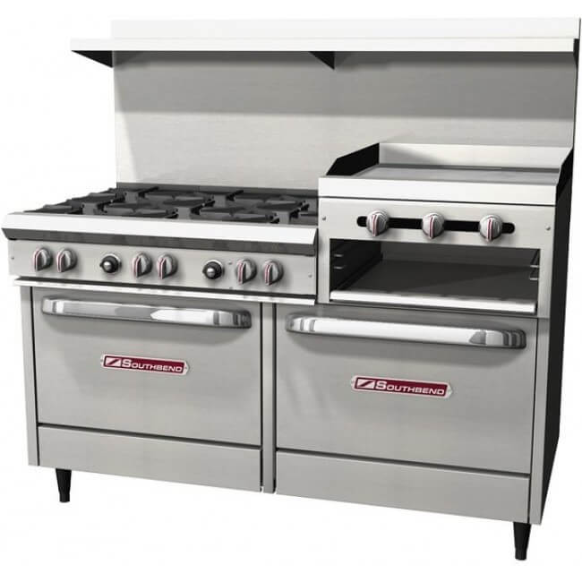 Commercial Gas Stove 60 Inch Griddle Broiler 24 2 Standard Ovens