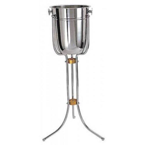 Wine Bucket Stand With Brass Accents