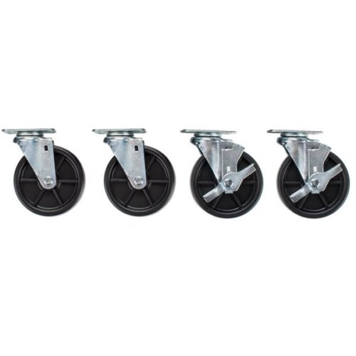 4 casters set locking and non-locking