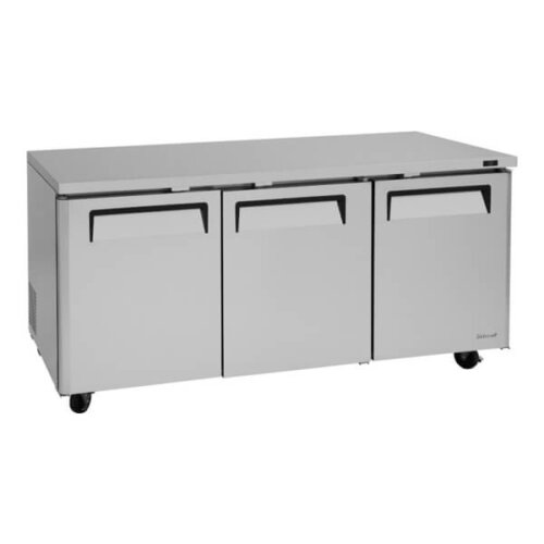 Turbo Air 19-cu ft Undercounter Refrigerator, 3 Sections, 3 Doors - MUR-72-N (2)