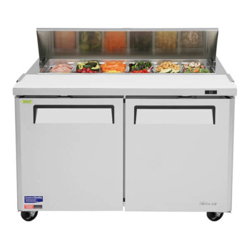 Turbo Air Sandwich-Salad Prep Table w Refrigerated Base - MST-48 (3)