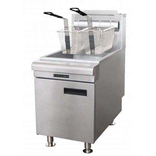 Black Diamond Commercial Deep Fryer Countertop 75 NG