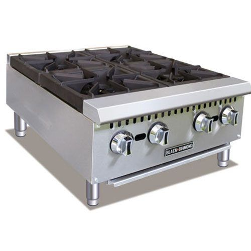 Admiral Craft Black Diamond BDCTH-24 4 Burner Gas Countertop Range / Hot Plate - 100,000 BTU