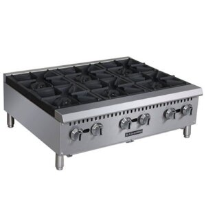 Admiral Craft Black Diamond BDCTH-36 6 Burner Gas Countertop Range / Hot Plate - 150,000 BTU