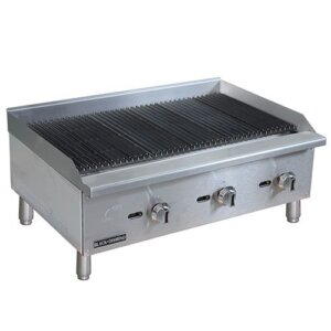 "Admiral Craft Black Diamond BDECTC-36/NG 36"" Gas Countertop Radiant Charbroiler - 90,000 BTU"