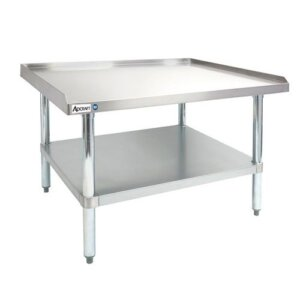 "Adcraft ES-3048 30"" x 48"" 16-Gauge Heavy Duty Stainless Steel Equipment Stand with Galvanized Adjustable Undershelf"
