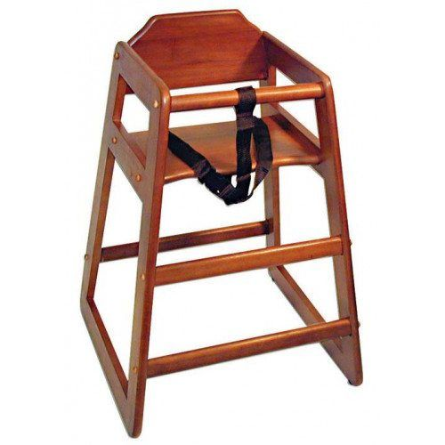 Mahogany Restaurant High Chair – Unassembled