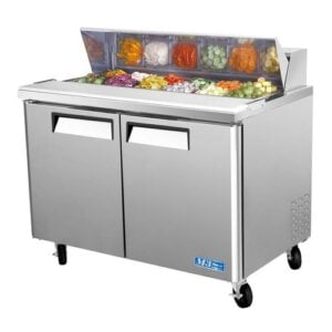 "Turbo Air MST-48 48"" Sandwich/Salad Prep Table w/ Refrigerated Base"