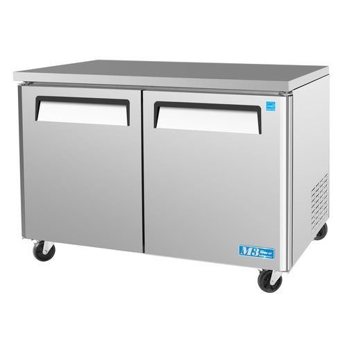 Turbo Air MUF-48 12-cu ft Undercounter Freezer w/ (2) Sections & (2) Doors