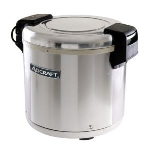 Adcraft RW-E50 Stainless Steel Rice Warmer, 50 Cups Or 100 Bowls - 120V, 100W