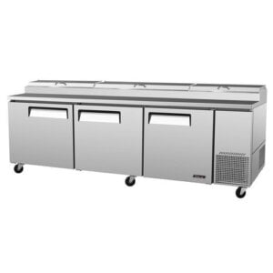 "Turbo Air TPR-93SD 93"" Pizza Prep Table w/ Refrigerated Base"