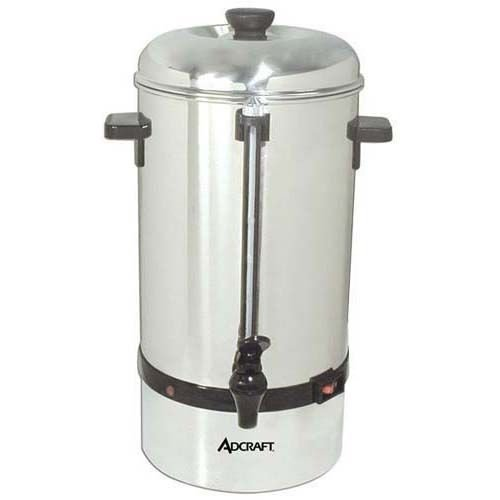 Adcraft CP-40 Stainless Steel Coffee Percolator - 40 Cup
