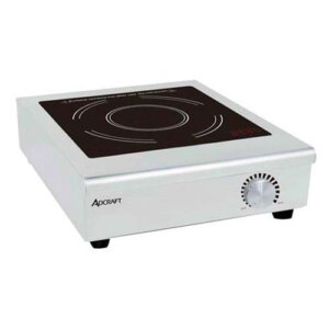 Adcraft IND-C208V Countertop Thermostatic Induction Range / Cooker Stainless Steel With Ceramic Glass - 208V, 3000W