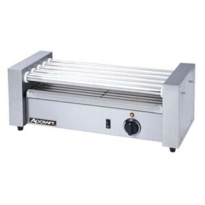 Adcraft RG-05 Commercial Countertop Hot Dog Roller Grill with 5 Rollers - 120V, 400W