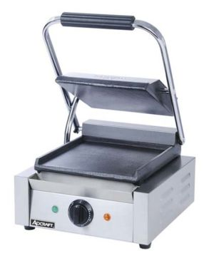 Admiral Craft SG-811/F Countertop Sandwich Grill, Single, Flat Surface - 120V, 1750W