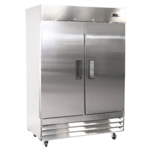 Kitchen Monkey KMRF-2D Solid Door Reach-In Refrigerator - 48 Cu Ft