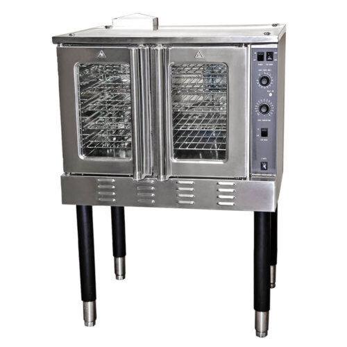 Kitchen Monkey KMCOF-54/NG Single Deck Full Size Natural Gas Convection Oven - 54,000 BTU