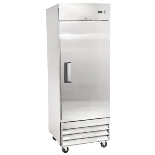 Kitchen Monkey KMRF-1D Solid Door Reach-In Refrigerator - 23 Cu Ft