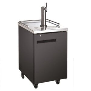 "Kitchen Monkey KMBD-2428 Single Tap Kegerator 24"" Beer Dispenser (1) 1/2 Keg Capacity"