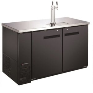 "Kitchen Monkey KMBD-5928/2 Double Tap Kegerator 59"" Beer Dispenser (2) 1/2 Keg Capacity"