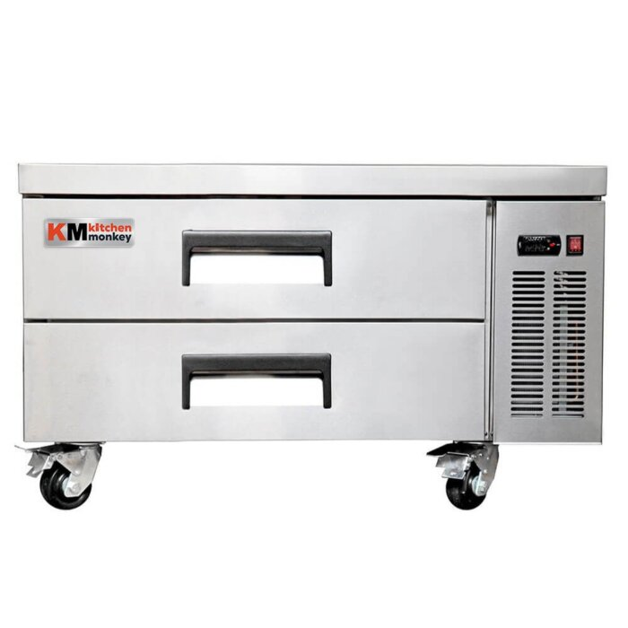 "Kitchen Monkey KMCB-52 52"" 2 Drawer Refrigerated Chef Base"