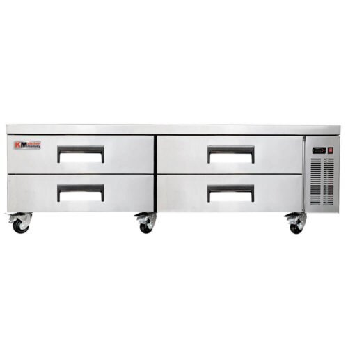 "Kitchen Monkey KMCB-72 72"" 4 Drawer Refrigerated Chef Base"