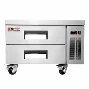 "Kitchen Monkey KMCB-36 36"" 2 Drawer Refrigerated Chef Base"