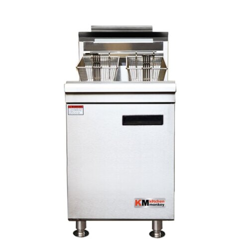 Kitchen Monkey KMCTF-60/LPG 35-40 lbs LPG Countertop Gas Fryer – 60,000 BTU