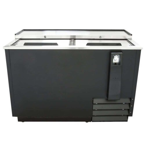 "Kitchen Monkey KMBC-50 50"" Black Horizontal Bottle Cooler"