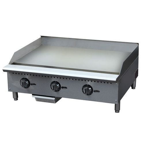 "Kitchen Monkey KMCTG-36T 36"" Gas Countertop Griddle with Thermostatic Controls - 90,000 BTU"