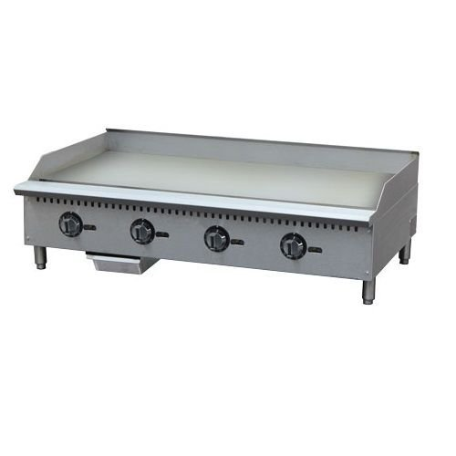 "Kitchen Monkey KMCTG-48T 48"" Gas Countertop Griddle with Thermostatic Controls - 120,000 BTU"