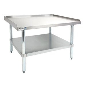 "Adcraft ES-2448 24"" x 48"" 16-Gauge Heavy Duty Stainless Steel Equipment Stand with Galvanized Adjustable Undershelf"