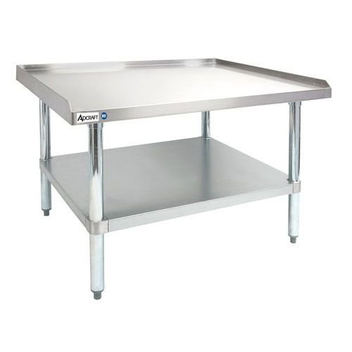 "Adcraft ES-3036 30"" x 36"" 16-Gauge Heavy Duty Stainless Steel Equipment Stand with Galvanized Adjustable Undershelf"