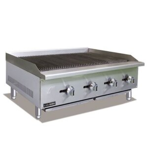 "Admiral Craft Black Diamond BDECTC-48/NG 48"" Gas Countertop Radiant Charbroiler - 120,000 BTU"