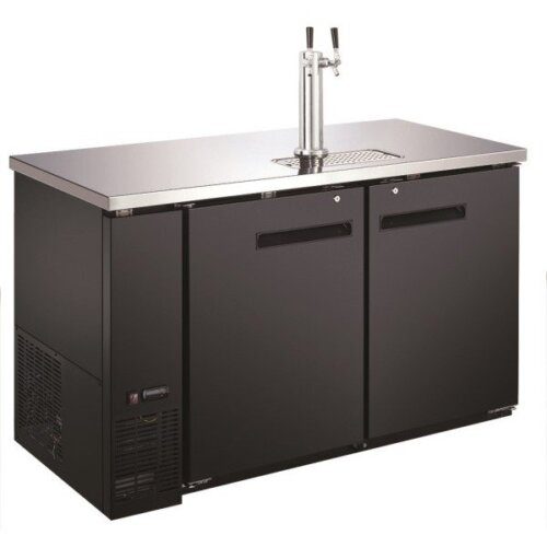 "Admiral Craft U-star USBD-5928/2 Double Tap Kegerator 59"" Beer Dispenser (2) 1/2 Keg Capacity"