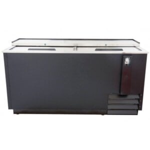 "Admiral Craft U-star USBC-65 65"" Black Horizontal Bottle Cooler"