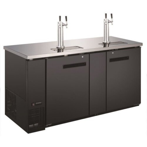 "Admiral Craft U-star USBD-6928/2 (2) Double Tap Kegerator 69"" Beer Dispenser (3) 1/2 Keg Capacity"