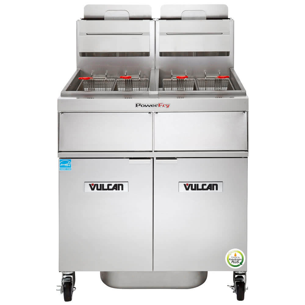 Vulcan 2TR45AF-1 2 Unit Fryer PowerFry3 Natural Gas
