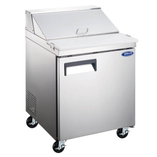 "Admiral Craft Grista GRSL-1D 27.5"" 1 Door Refrigerated Sandwich Prep Table - 6 Cu Ft"