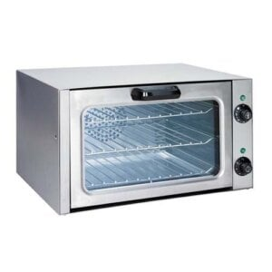 Kitchen Monkey KMCOQ-1750W Quarter Size Countertop Convection Oven - 120V, 1750W