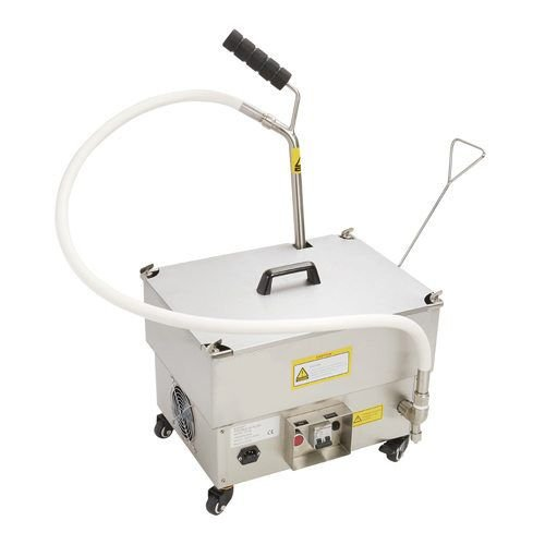 Kitchen Monkey KMOF-40 40lbs Portable Fryer Oil Filter with Reversible Pump - 120V, 1/3 hp