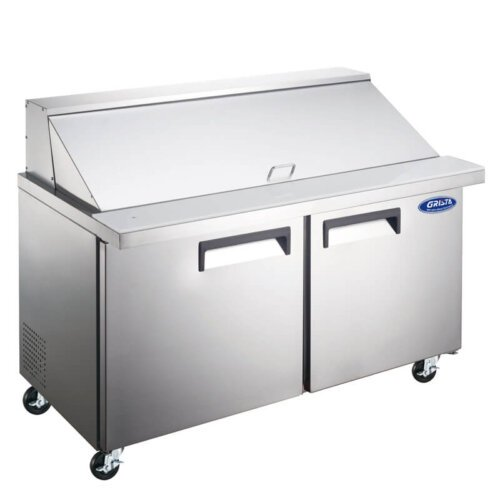 "Admiral Craft Grista GRSLM-2D 47"" 2 Door Mega Top Refrigerated Sandwich Prep Table - 9.5 Cu Ft"