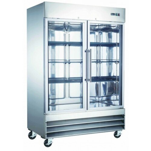 Commercial reach-in refrigerator 2 glass door 48 cbft U-Star