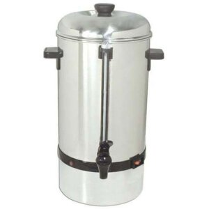 Kitchen Monkey KMCP-100 Stainless Steel Coffee Percolator - 100 Cup