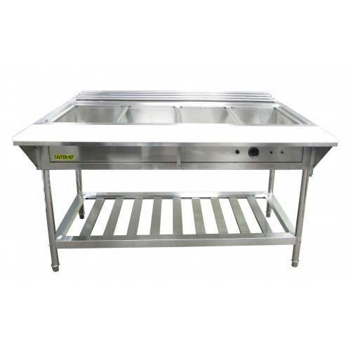 Steam Table 4 Bay Waterbath With Cutting Board and Tray Rack 3000W