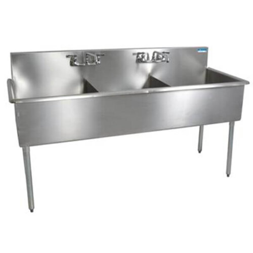 3 Compartment Budget Sink 18x18x12D Bowls T-430 SS