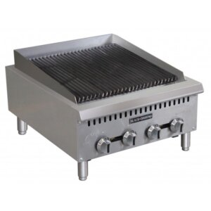 "Black Diamond BDCTC-24 24"" Heavy Duty Gas Countertop Radiant Charbroiler 80,000 BTU"